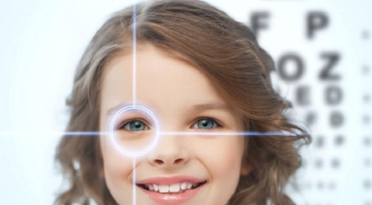 girl eye test