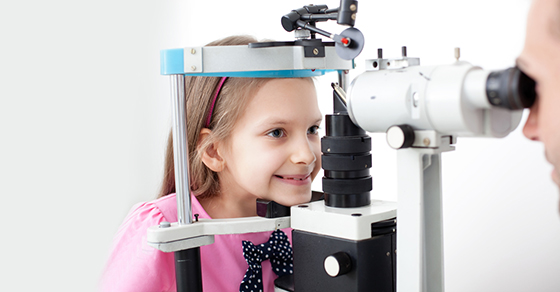 Child Having Eyes Examined